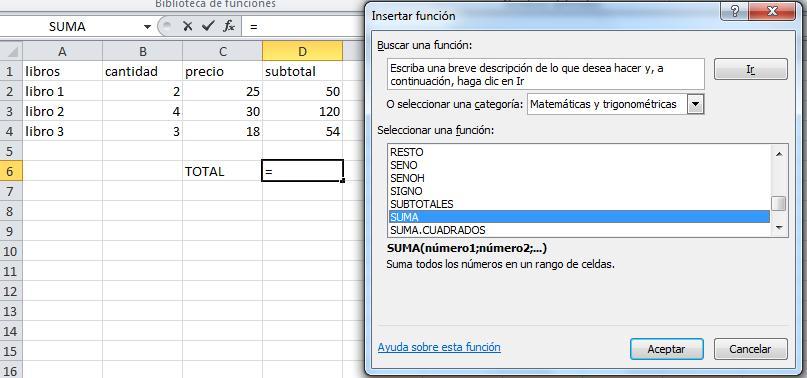 Principales funciones de Excell18